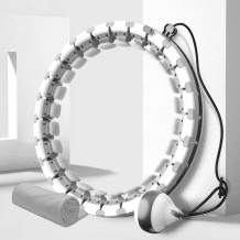 DOUDOUR Weighted Smart Hoola Hoop for Adults and Kids Exercising, Adjustable Auto-Spinning Fitness Hoola Hoop