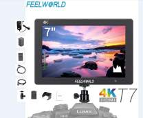 FEELWORLD T7 7 Inch Camera Field Monitor 1920x1200 Full HD IPS 4K HDMI Imput Output Video Assist DSLR Monitor with Peaking Focus False Colors Include Battery,Charger and Adapter 12V