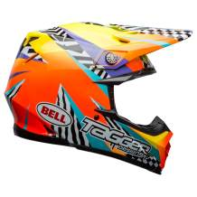 Bell Moto-9 MIPS Off-Road Motorcycle Helmet (Tagger Breakout Gloss Orange/Yellow, Small)