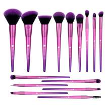 Makeup Brush Set, DUcare 15Pcs Makeup Brushes Premium Synthetic Hair Purple Foundation Blending Blush Face Eyeliner Shadow Brow Concealer Lip Brush Set