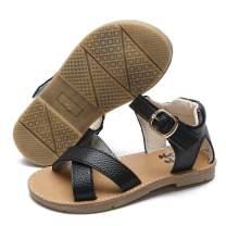 TIMATEGO Baby Toddler Girls Sandals Open Toe T-Strap Infant Princess Dress Flat Shoes Outdoor Summer Sandals for Girls(Toddler/Little Kid)