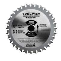 "Toolman Premium Multifunctional Carbide-Tipped Circular Saw Blade Universal Fit 4"" 32T For Metal Aluminum Steel & wood STH036"