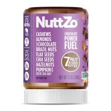 NuttZo Chocolate Power Fuel Nut Butter, Natural, Seven Nuts & Seeds (Peanut Free), Paleo, 12 Ounce