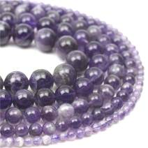 """Oameusa 10mm Natural Dream Amethyst Round Smooth Beads Gemstone Beads Loose Beads Agate Beads for Jewelry Making 15"""" 1 Strand per Bag-Wholesale"""
