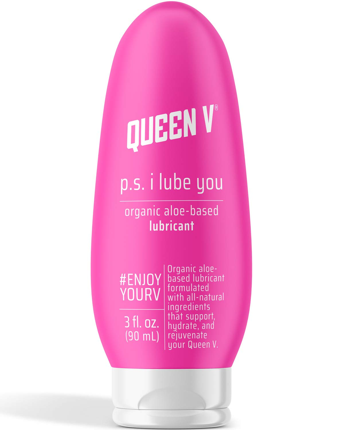 Queen V P.S. I Lube You, Organic Aloe Based Personal Lubricant | Vegan | 3 Ounce