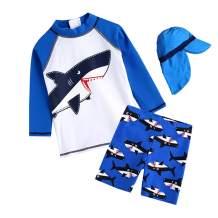 Boys Swimsuit,Kids 50+ UPF Rash Guard Bathing Suit Swimwear Set -1-5 Year