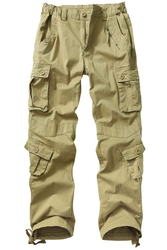 TRGPSG Women's Casual Ripstop Military Work Trousers, Multi-Pocket Outdoor Army Combat Cargo Pants