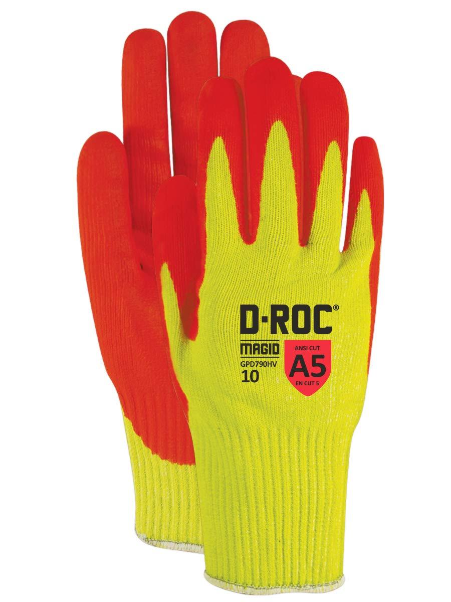 Magid Glove & Safety Magid D-ROC GPD790HV HPPE Blend Micro-Foam Nitrile Palm Coat Gloves - Cut Level A5