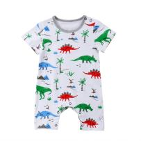 TheFound Baby Boy Girl Romper Bunny Printed Long Sleeve Jumpsuit Zipper Playsuit Outfits