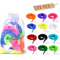 huianer 72 Pcs Magic Worm Toys Wiggly Twisty Fuzzy Carnival Party Favors(Random Color)