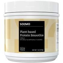 Amazon Brand - Solimo Plant-based Protein Smoothie Powder, Vanilla, 1 Pound (13 Servings)