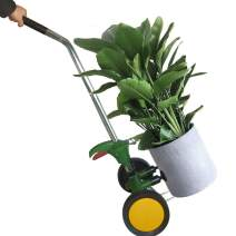 Potted Plant Dolly with Flat Free Wheels Potted Plant Mover for Garden Potted Flower Trees