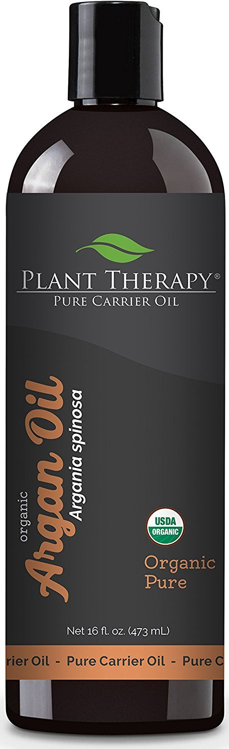 Plant Therapy Moroccan Argan Oil + PUMP 100% Pure & USDA Organic, First-Press, Virgin, For Face, Hair, Skin, Nails & Cuticles 16 oz