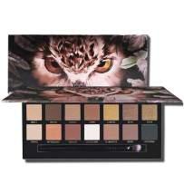 LANGMANNI new fashion Matte Eyeshadow Palette Nude eye Makeup Glitter Pigment Smoky Eye Shadow Powder Waterproof Cosmetic (#2 Owl)