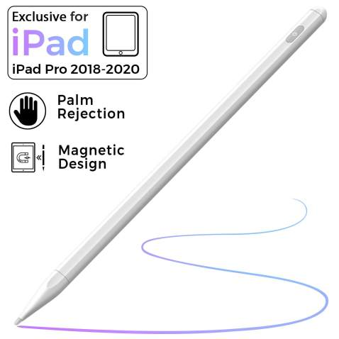 Pencil Stylus for Newest iPad 8th Generation,Palm Rejection Stylus Pen Compatible with iPad Pro 11 inch//iPad Pro 12.9 inch 3rd 4th Gen//iPad 6th 7th Gen//iPad Mini 5th Gen//iPad Air 3rd Gen White