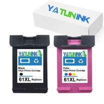 YATUNINK Remanufactured Ink Cartridge Replacement for HP 61XL Deskjet 1000 Deskjet 1510 Deskjet 3054 Envy 4500 Envy 4502 Envy 5530 Officejet 4630 Officejet 4632 Officejet 4635(1Black 1Color,2 Pack)