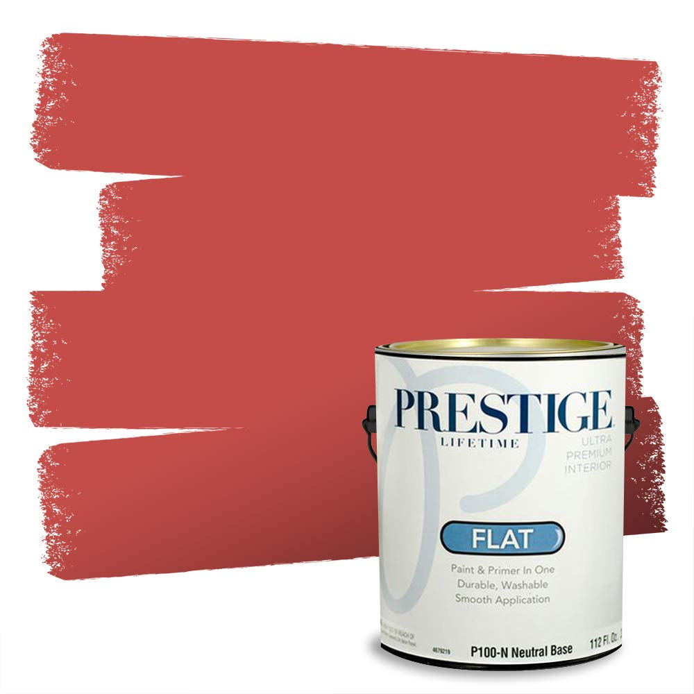 Prestige Interior Paint and Primer in One, 1-Gallon, Flat, Red Posh
