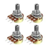 uxcell WH148 1M Ohm Variable Resistors Single Turn Rotary Carbon Film Taper Potentiometer 4pcs