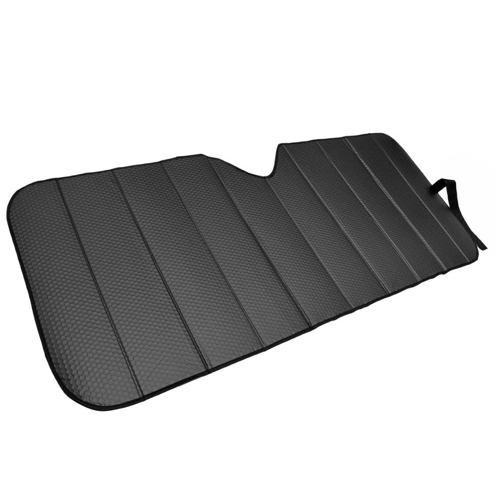 Motor Trend Front Windshield Sun Shade - Accordion Folding Auto Sunshade for Car Truck SUV - Blocks UV Rays Sun Visor Protector - Keeps Your Vehicle Cool - 58 x 24 Inch (Black)