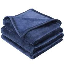 "EMME Fleece Blanket Twin Size Navy Lightweight Super Soft Microfiber Velvet Plush Throw Blanket 300GSM Bed Blanket Cozy Nap Luxury Couch Bed Warm Blanket (Navy, 60""x80"")"