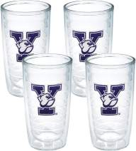 Tervis Yale University Emblem Tumbler, Set of 4, 16 oz, Clear
