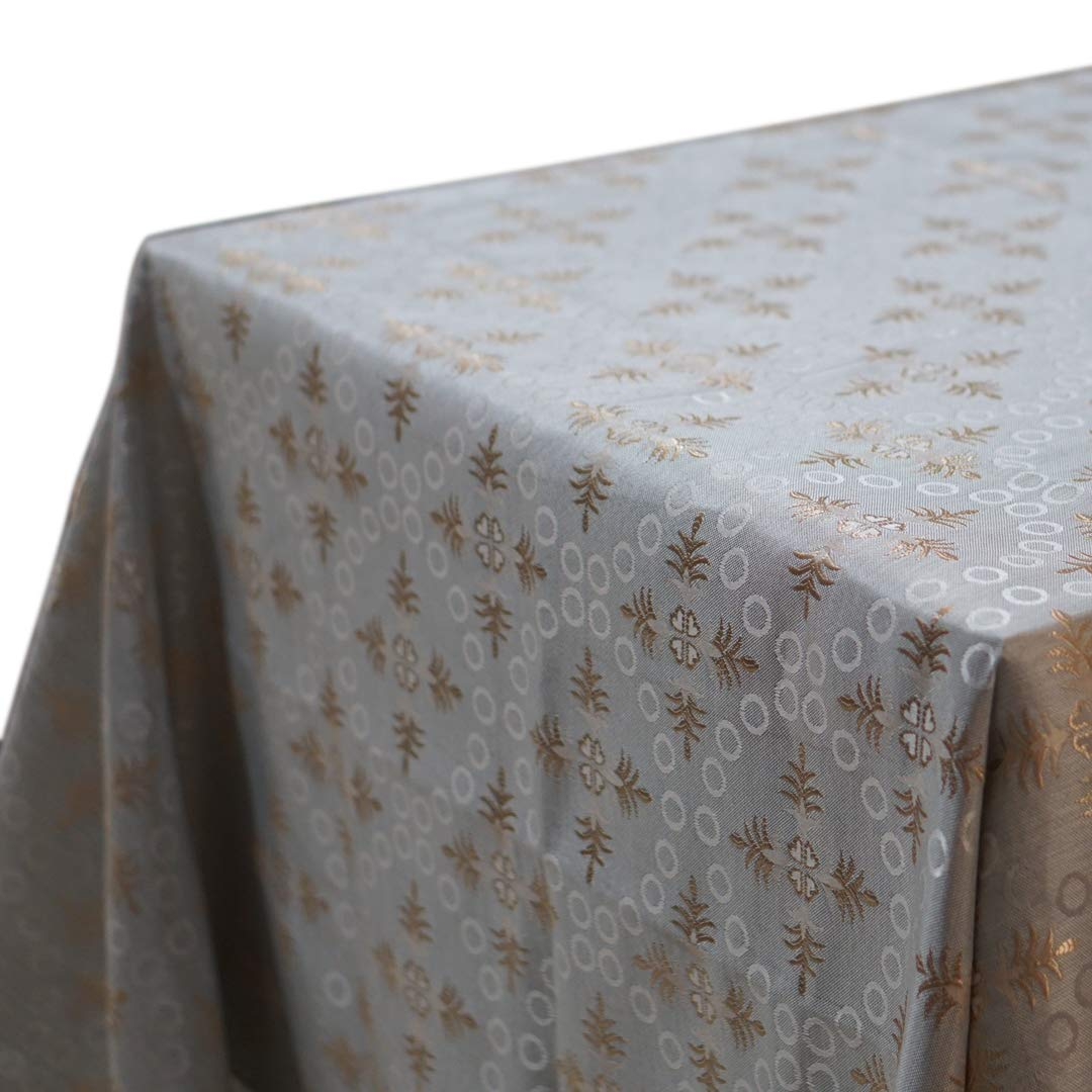 """QUEENSHOW Polyester Square Tablecloth Waterproof Desk Table Cover for Kitchen Dinning Tabletop, Bluish Grey 54"""" x 54"""""""