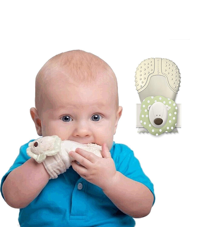 MITTEEZ Organic Premium Teething Mitten and Keepsake for Babies 0-8 Months - Green