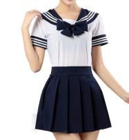 WenHong School Uniform Dress Cosplay Costume Japan Anime Girl Lady Lolita