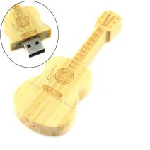 AreTop Flash Drive 16GB, Pen Drive Memory Stick USB2.0 Creative Miniature Wooden Guitar Shape Thumb Drives for Date Storage Gift for School Students Kids Children Teacher Collegue Employees