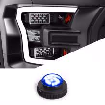 SpeedTech Lights 12 LED 36W Strobe Light for Police Cars, Construction Trucks, Service Vehicles, Plows, Emergency Vehicles. Surface Mount Grille Flashing Hazard Beacon Light - Blue/Blue