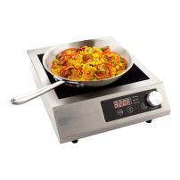Professional Portable Induction Cooktop RWT0094 - 3500W (220V) Countertop Induction Cooker with Digital Temperature Display - Perfect for Restaurants and Catering Events -  Restaurantware