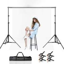 BEIYANG Backdrop Stand,7.5FTx10FT Adjustable Photography Studio Background Support System Kit with Carrying Bag for Photo Video Shooting