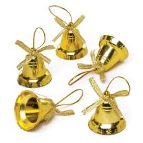 Baker Ross Gold Bells — Creative Christmas Art and Craft Supplies for Kids' Projects and Decoration (Pack of 20)