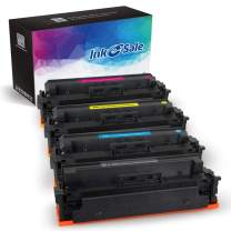 [NO CHIP] INK E-SALE 4-Packs Compatible Toner Cartridge Replacement for HP 414A M454dw M479fdw 414X for HP Color Laserjet Pro M454dw M454 M454dn MFP M479fdw M479fdn Black Cyan Yellow Magenta Printer