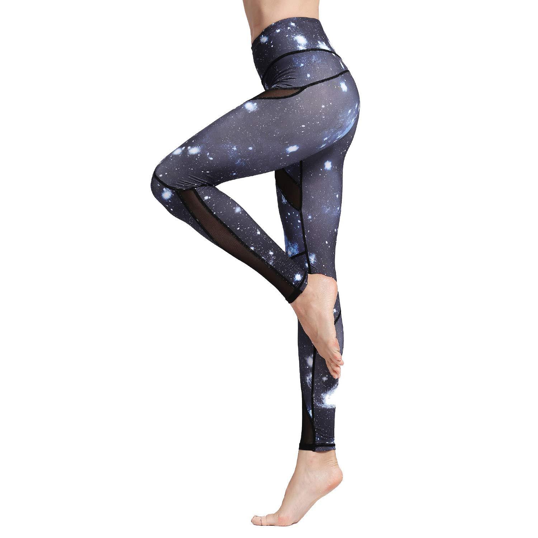 Witkey Women Yoga Pants Printed Over The Heel Yoga Leggings High Waist Power Flex Leggings for Fitness Running