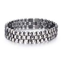 MESINYA 99.999% Germanium Pure Titanium Therapy Bracelet for Couple