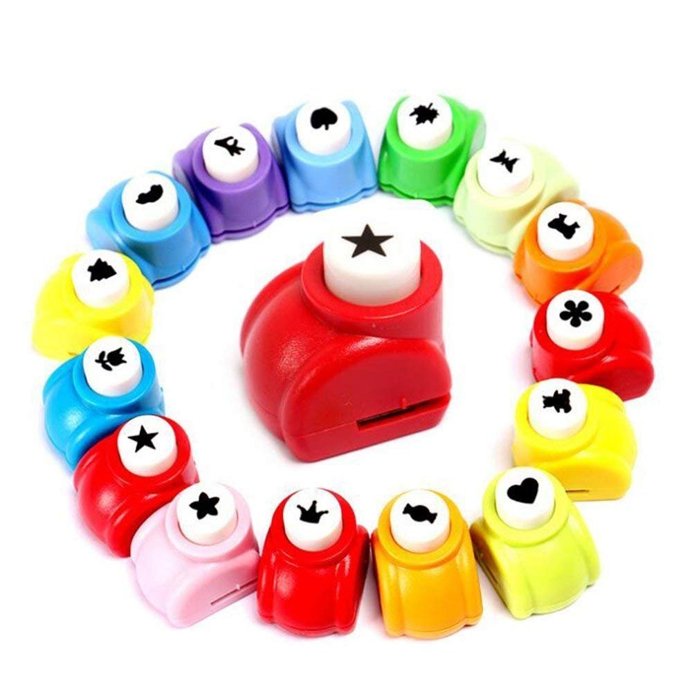 LoveInUSA Punch Craft Set, 10 Pack Hole Punch Shapes Hole Punch Shape Scrapbooking Supplies Shapes Hole Punch Great for Crafting & Fun Projects