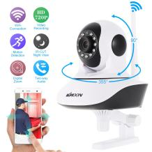 KKmoon IP Camera,Wireless Security Camera,Baby Monitor,Pet Camera,Dual Antenna,Indoor and Outdoor Camera,Network Home Surveillance,Two-Way Audio,Night Vision,APP Control,Motion Detection,Digital Zoom