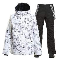 Men's Snowboard ski Jacket Pants Outdoor Sports Windproof Snowsuit