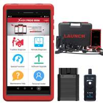 LAUNCH X431 PROS Mini (Advanced Version of X431 PRO) Bi-Directional Full System Scan Tool Diagnostic Scanner IMMO ECU Injector Coding ABS Brake Bleeding 2 Years Free Update with TPMS Activation Tool