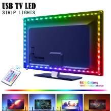 USB LED Strip Lights for 40-60in TV,AYSEMO 6.56Ft TV LED Backlight Kit with Remote - 16 Color Changing Lights,5050 LEDs,LED Light Strips for Room Home Movie Decor. …