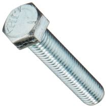 """Steel Hex Bolt, Grade 5, Zinc Plated Finish, Hex Head, External Hex Drive, Meets ASME B18.2.1/SAE J429, 5"""" Length, Fully Threaded, 1/2""""-13 Threads (Pack of 10)"""