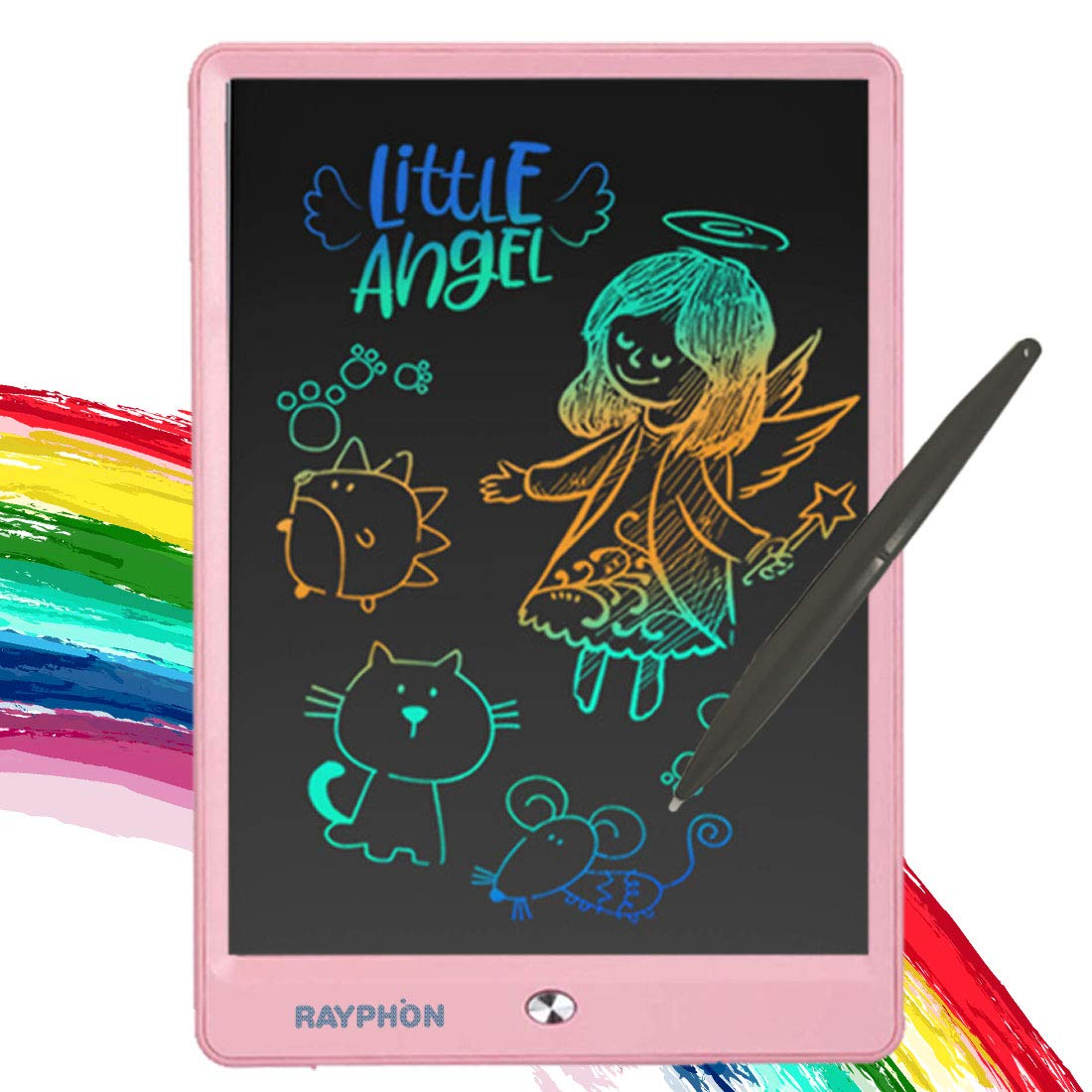 ZBHANTANG LCD Writing Tablet 10 Inch Drawing Board Doodle Board with Colorful Screen, Writing Board Electronic Doodle Pads Learning Tablet for Kids and Adults (Pink, 10 inch)