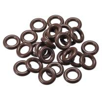 uxcell Fluorine Rubber O Rings, 14mm OD, 7mm Inner Diameter, 3.5mm Width, Seal Gasket Brown 25Pcs