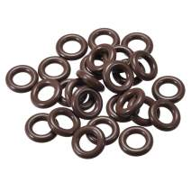 uxcell Fluorine Rubber O Rings, 14mm OD, 7mm Inner Diameter, 3.5mm Width, Seal Gasket Brown 25Pcs