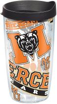 Tervis Mercer Bears All Over Tumbler with Wrap and Black Lid 16oz, Clear