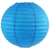 Just Artifacts 12-Inch Blue Round Chinese Japanese Paper Lantern (1pc, Blue)
