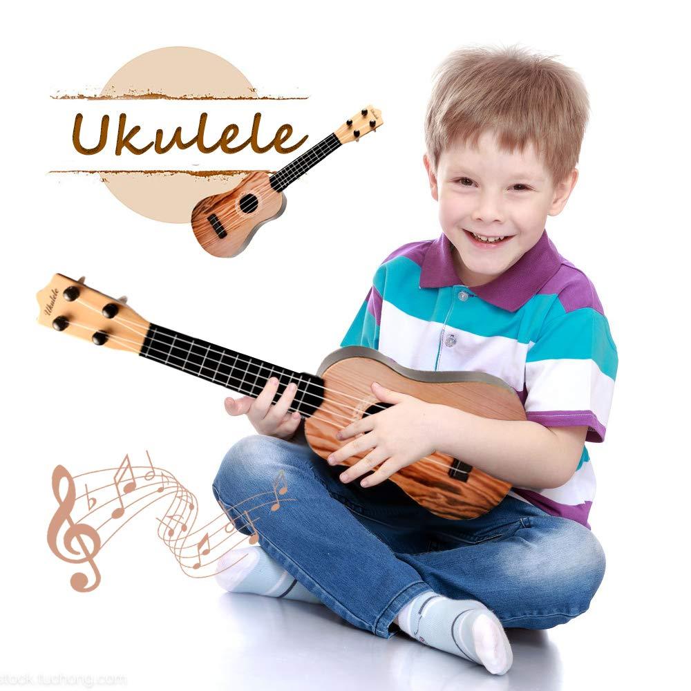 ZHENDUO 16.5'' Mini Ukulele Toy Guitar for Toddlers, Musical Instruments Ukuleles with Picks and Sheet Music for Kids, Beginners Child Musical Instruments Educational Toys