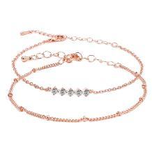 "ASHMITA Fashion Bracelets for Women Girl Rose Gold Adjustable Chain Bracelet Everyday Jewelry 6.5""+1"""