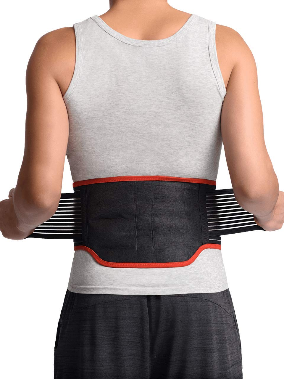 """Maxar BMS-511 Lumbar Support Back Brace with 31 Powerful Magnets, Far Infrared Technology, Magnetic Therapy Belt, Pain and Stress Relief, Sciatica, Scoliosis, Herniated Disc, Small 28""""-32"""""""